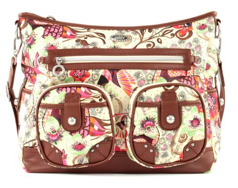 Oilily Tropical Birds Shoulder Bag Off White