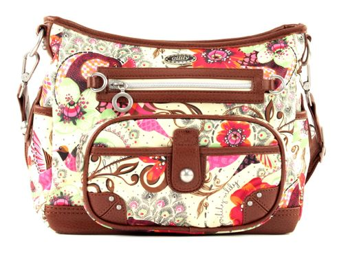 Oilily Tropical Birds S Shoulder Bag Off White