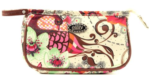 Oilily Tropical Birds S Cosmetic Bag Off White