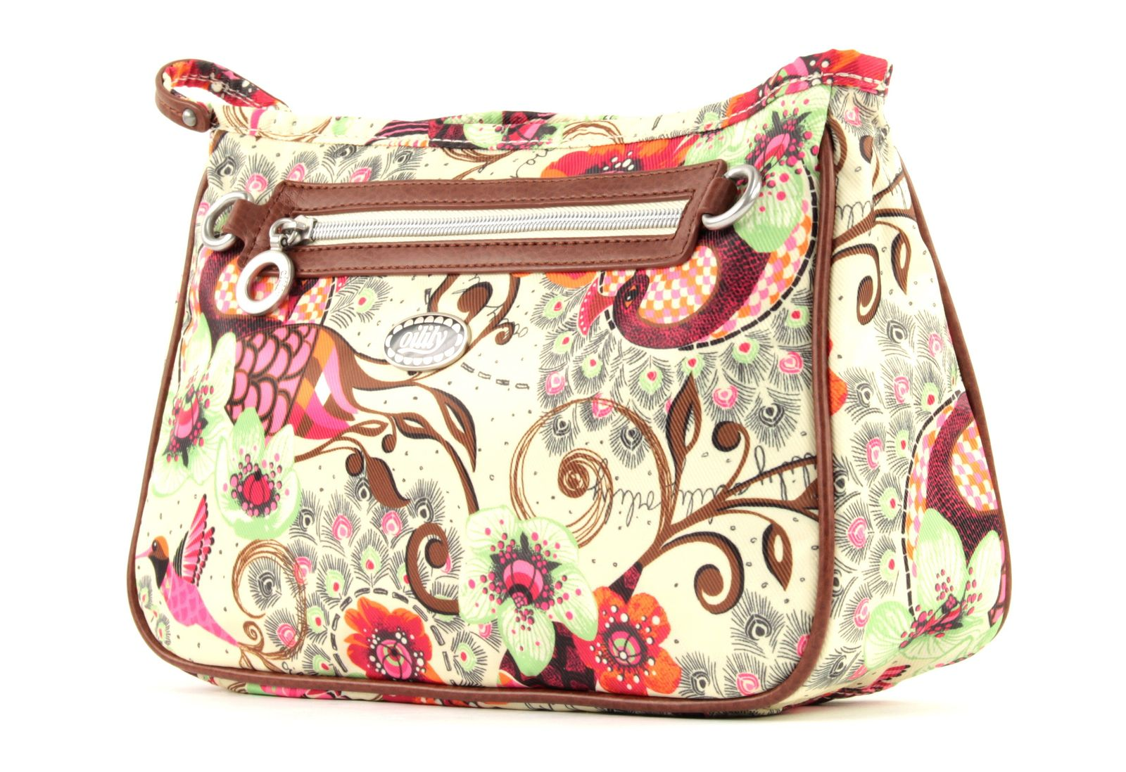 Oilily Tropical Birds L Cosmetic Bag Off White