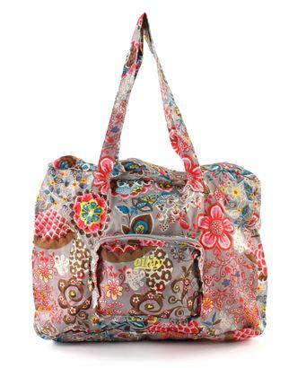 Oilily Folding Shopper Bag Handbag Gray Stone