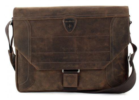 strellson Messenger Bag QF Tasche Schultertasche Notebooktasche Hunter Braun Brown