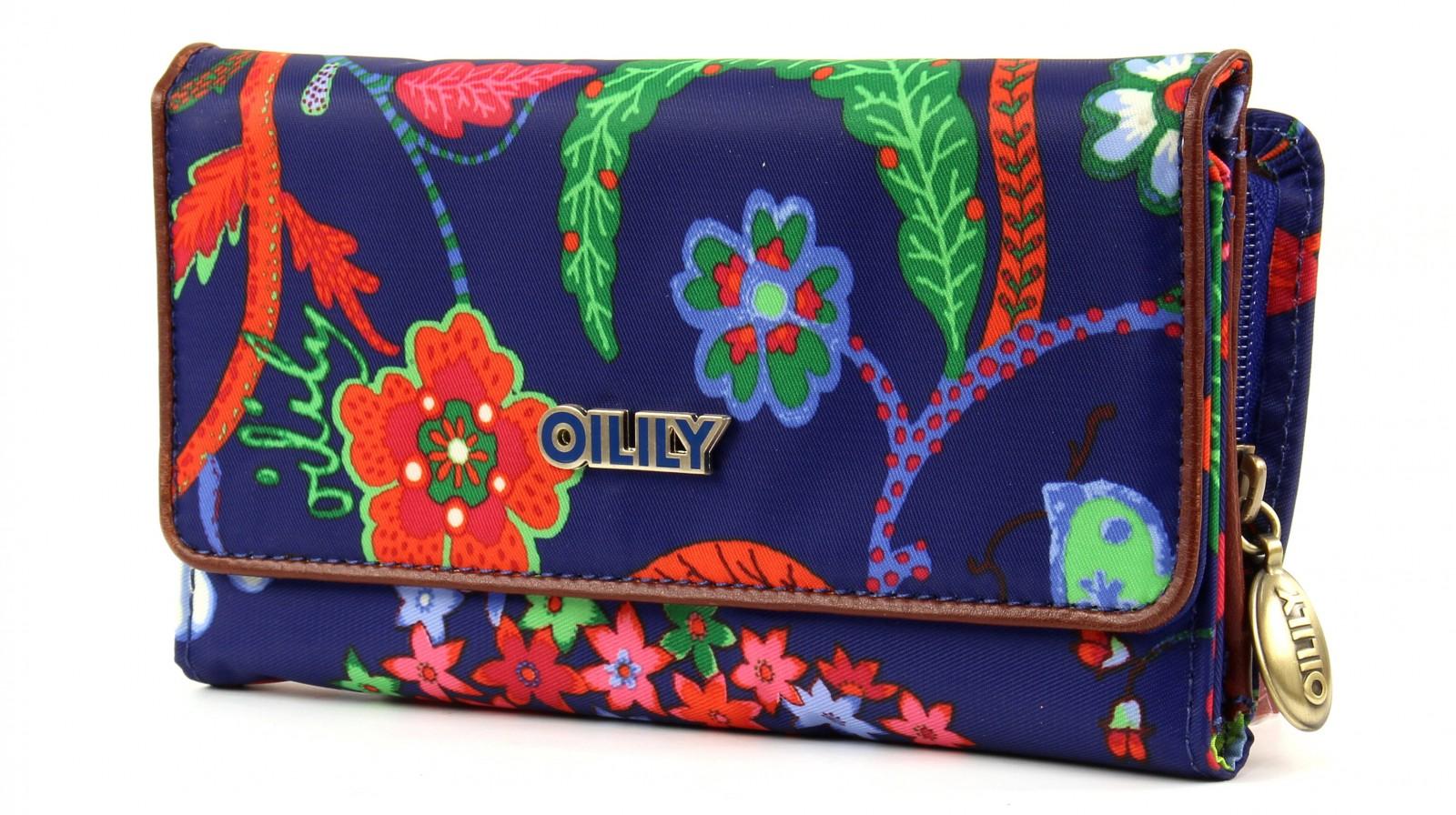 oilily l wallet geldb rse portemonnaie blau navy mehrfarbig. Black Bedroom Furniture Sets. Home Design Ideas