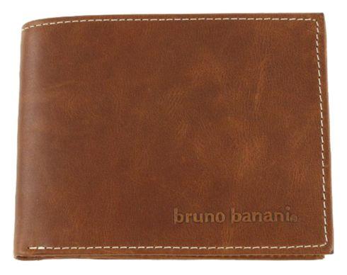 bruno banani Buffalo Scheintasche Quer Geldbörse Portemonnaie Cognac