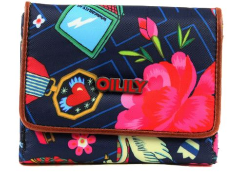 Oilily World Around S Wallet Indigo