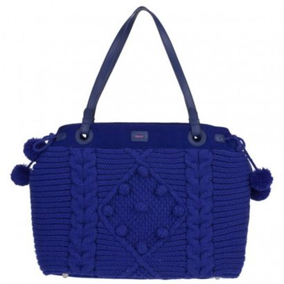 Oilily Knitted Bag Shopper Blue