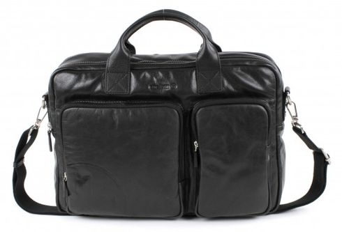 strellson Jones Soft Briefcase Black