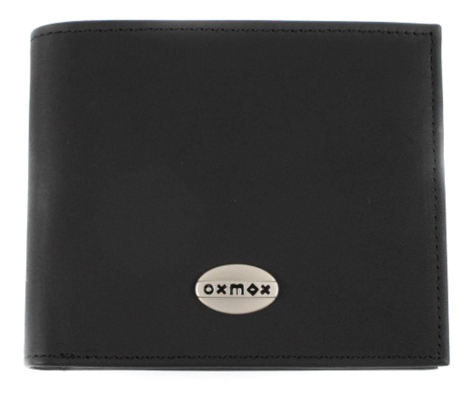 oxmox Leather Querscheinbörse Black