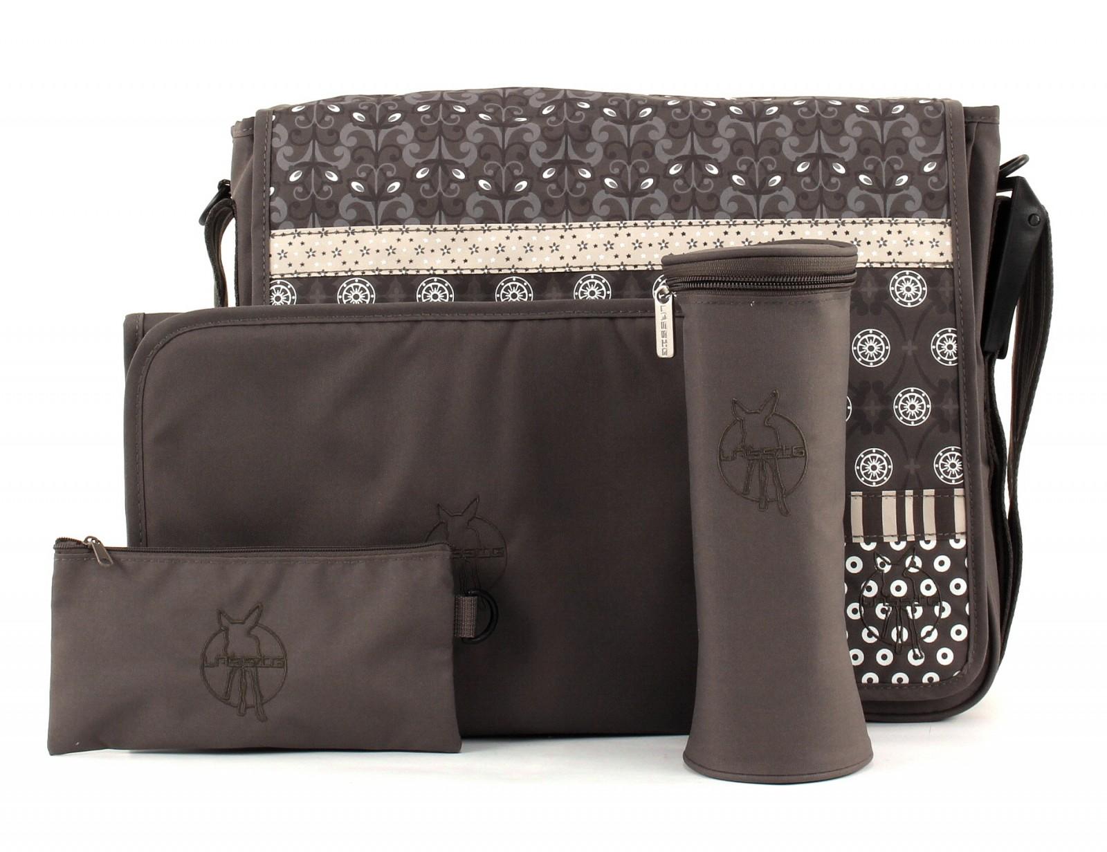 Lässig Casual Messenger Bag Tasche Wickeltasche Braun Multimix Slate