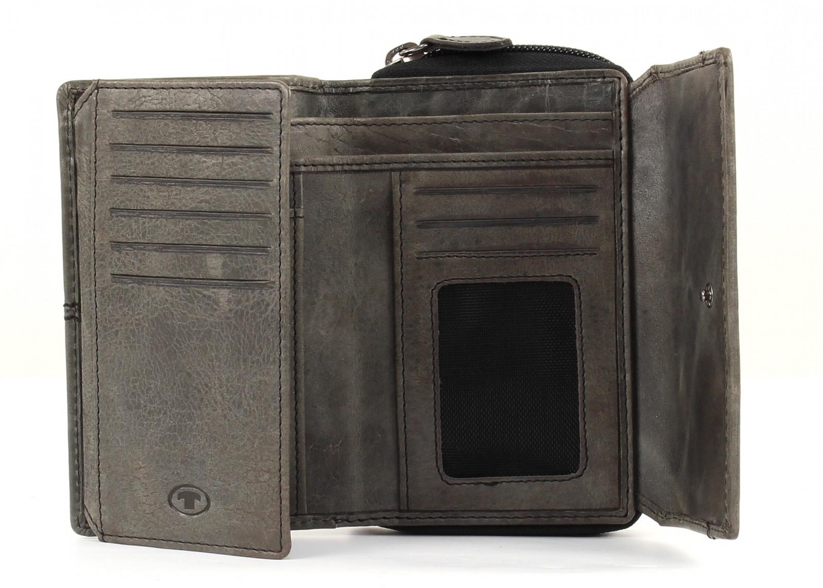 TOM TAILOR Rock Leather Purse Grey