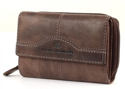 TOM TAILOR Rock Leather Purse Brown