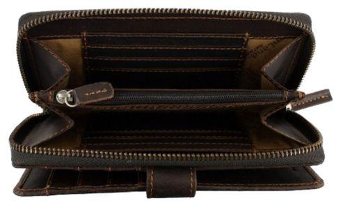 GreenLand Westcoast Zip Wallet XL Buffalo-Brown