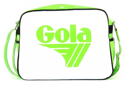 Gola Redford Patent Bag Lime / White Black
