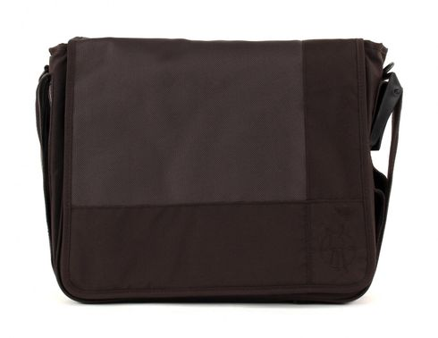 Lässig Casual Messenger Bag Patchwork Choco