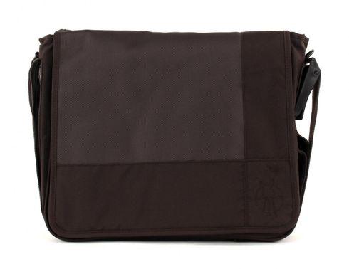 Lässig Casual Messenger Bag Patchwork Choco
