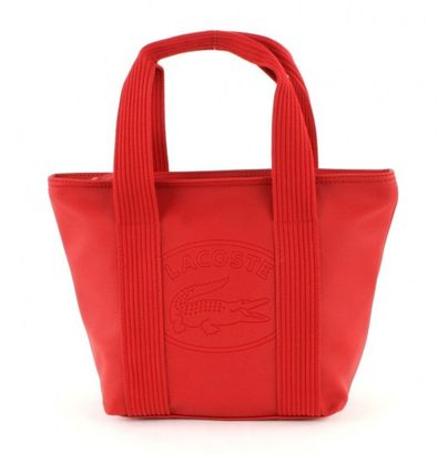 LACOSTE New Classic Small Shopping Bag Flame Scarlet