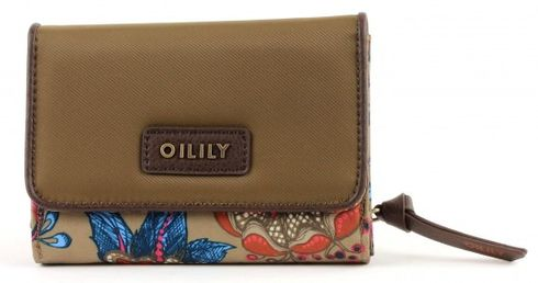 Oilily Sea of Flowers S Wallet Solid Bronze