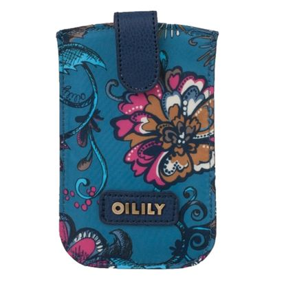 Oilily Sea of Flowers Smartphone Pull Case Deep Ocean