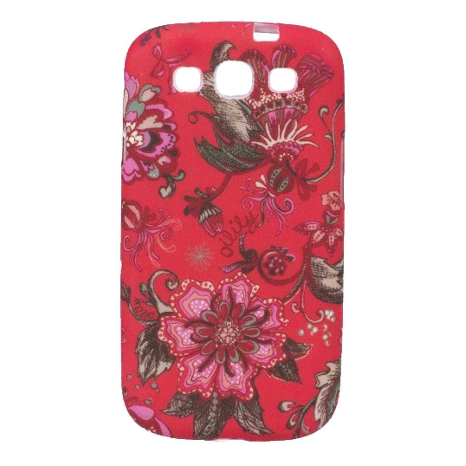 Oilily Sea of Flowers Samsung Galaxy SIII Case Cayenne