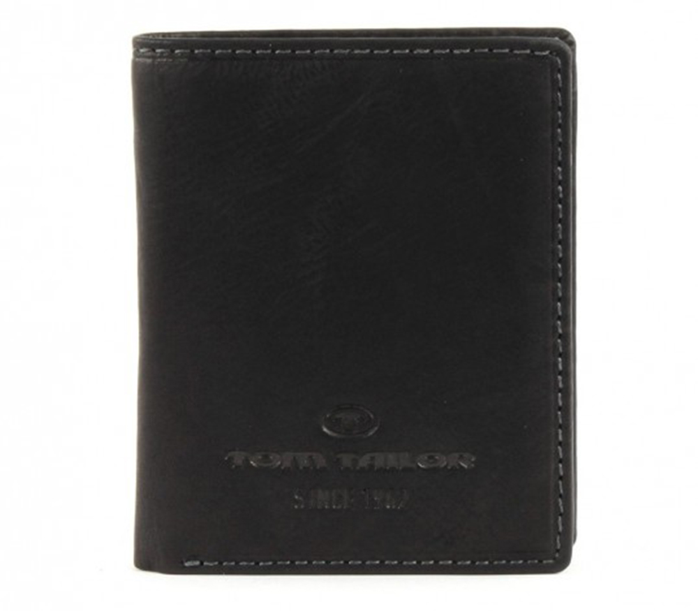 TOM TAILOR Lary Leather Wallet Black