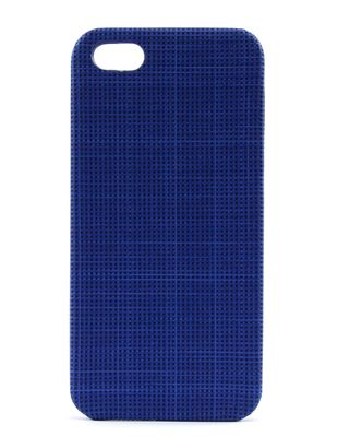 FOSSIL Phone Case Crosshatch Cobalt Blue