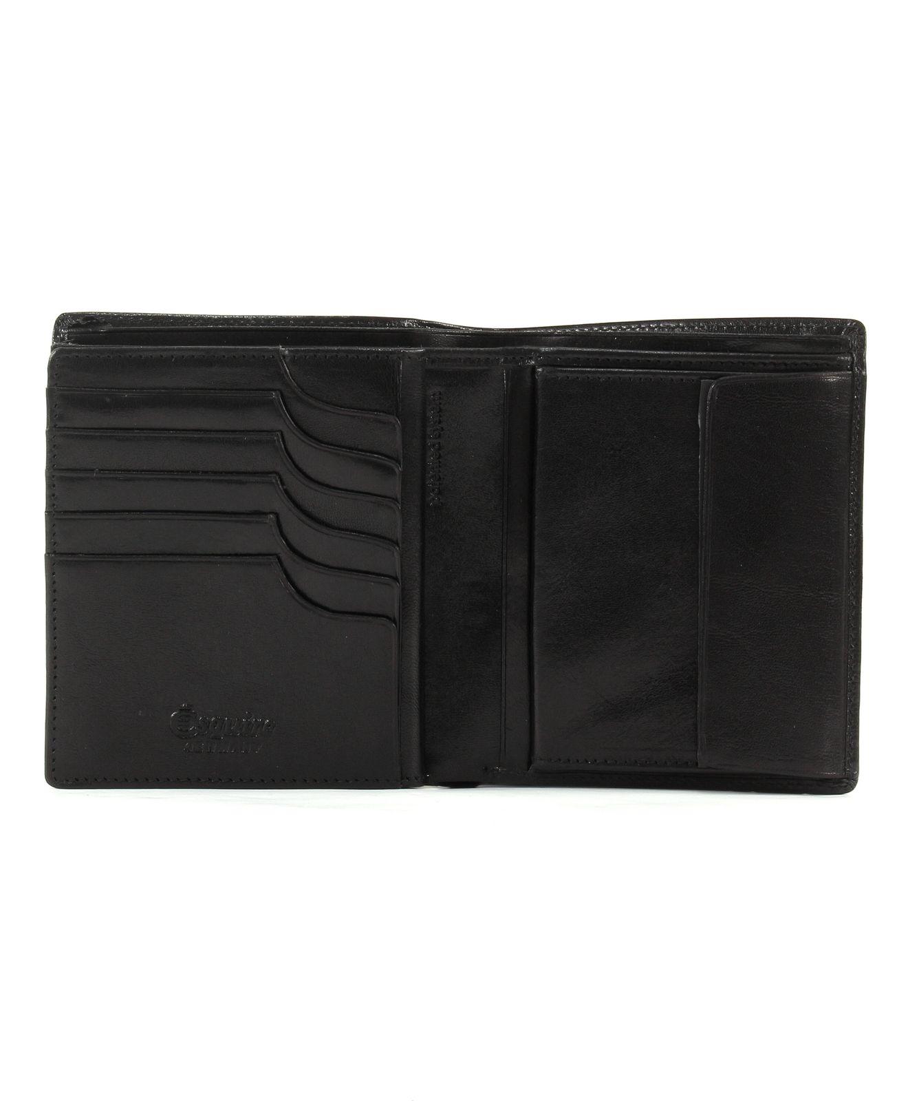 Esquire Toscana Hochformatbörse mit CardSafe Schwarz