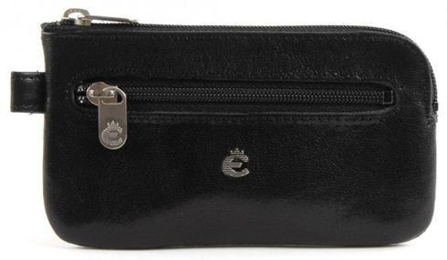Esquire Toscana Schlüsseletui mit Reißverschluss Schwarz