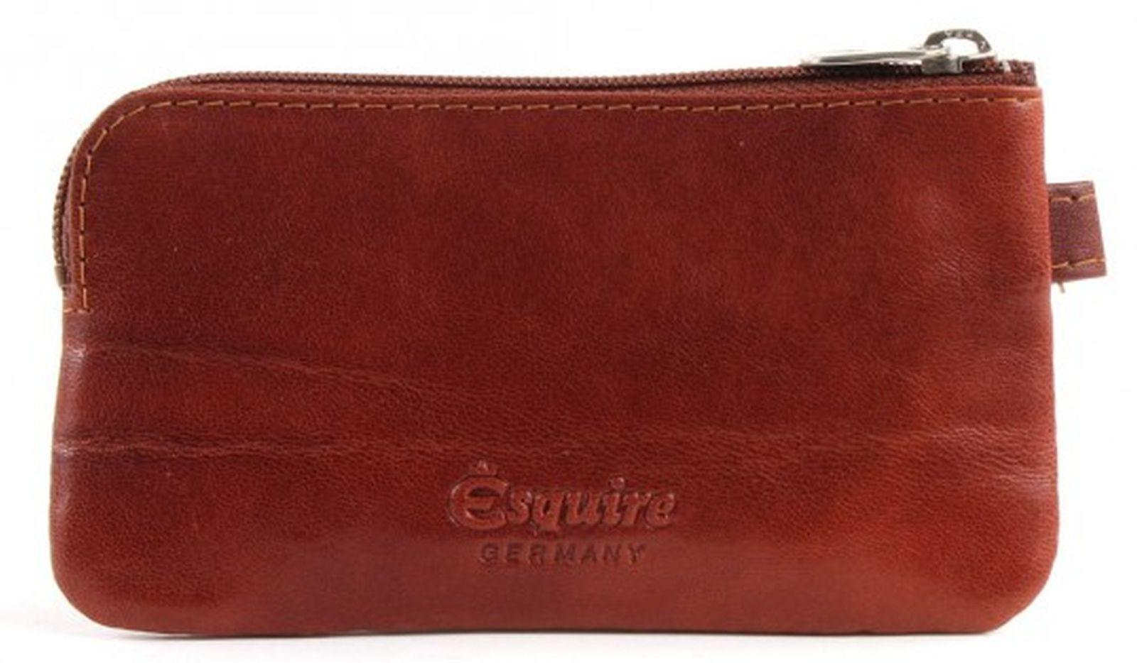 Esquire Toscana Schlüsseletui mit Reißverschluss Braun