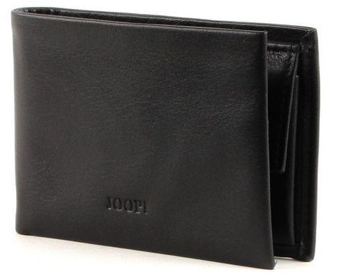 JOOP! Nestor Smooth Leather 2 Card Wallet Black