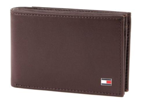 TOMMY HILFIGER Eton Mini CC Flap & Coin Pocket Brown