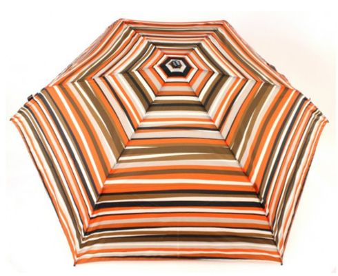Knirps Flat Duomatic Stripes Orange