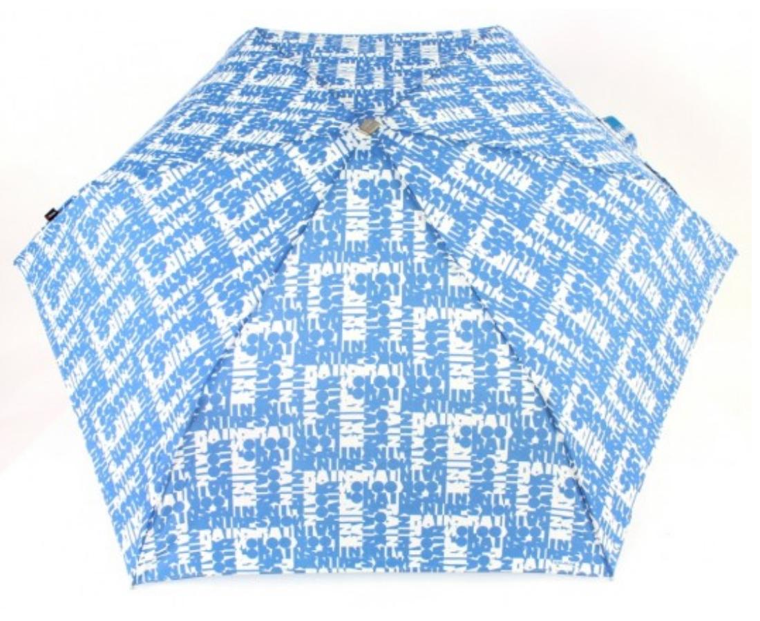 Knirps Flat Duomatic Scrabble Blue