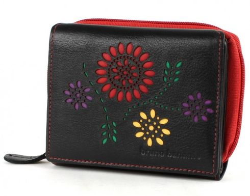 bruno banani Flowerpower Damenbörse mit RV Black / Red