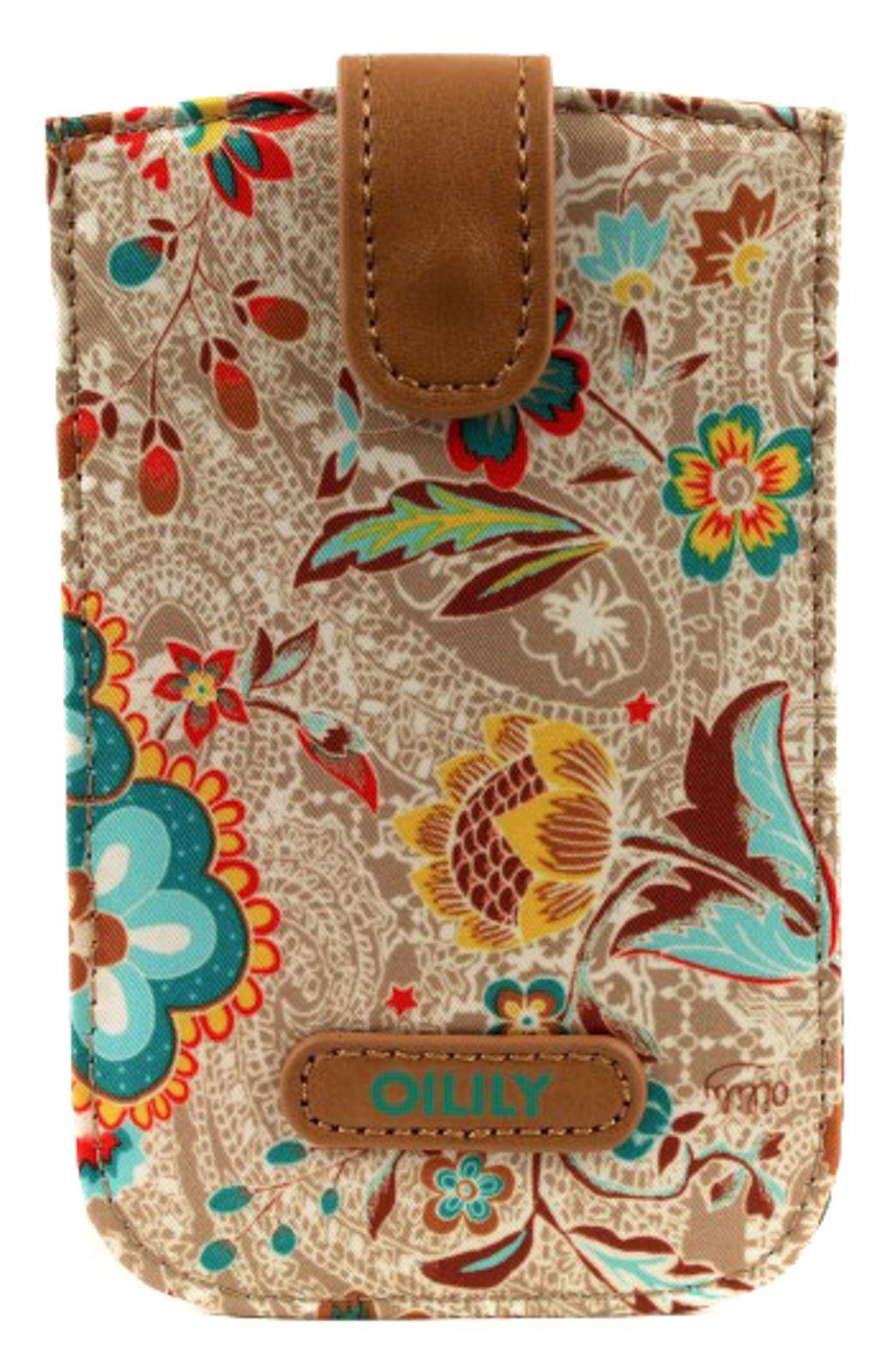 Oilily Summer Blossom Smartphone Pull Case Caramel