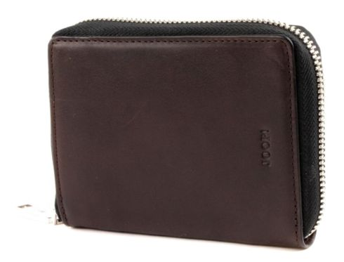 JOOP! Agros Liana 8 Card Zip Wallet Dark Brown