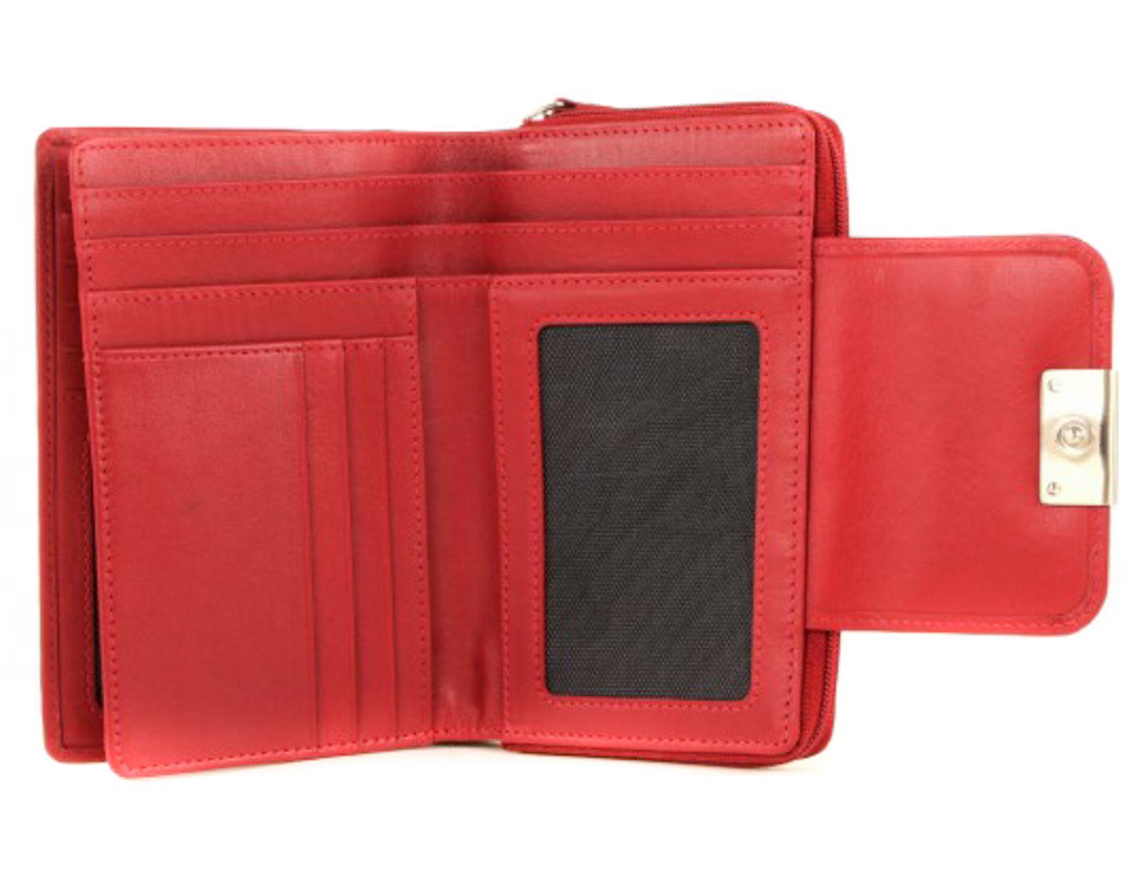 Maitre Helena Damenbörse Portemonnaie Geldbörse Geldbeutel Rot Red Leder Neu