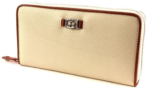 LA MARTINA Ciliegia Long Size Wallet With Zipper Beige