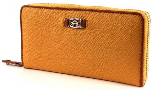 LA MARTINA Ciliegia Long Size Wallet With Zipper Yellow