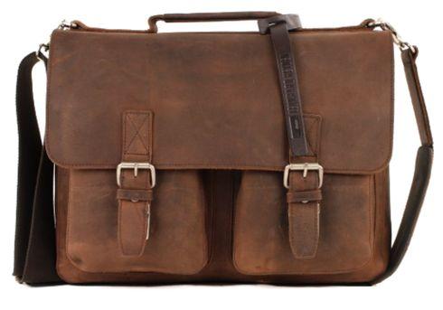 LEONHARD HEYDEN Salisbury Briefcase S Brown