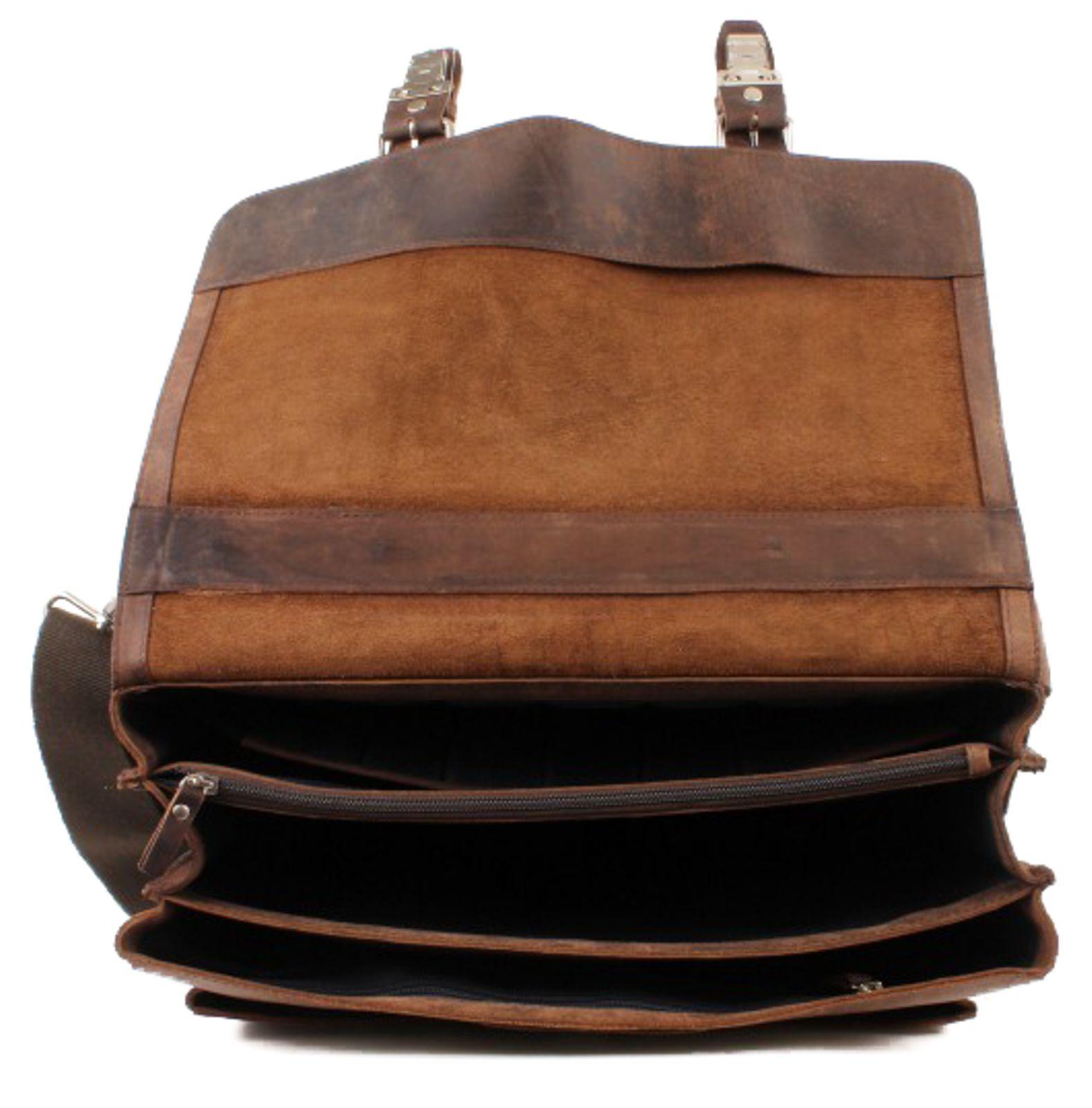 LEONHARD HEYDEN Salisbury Briefcase L Brown