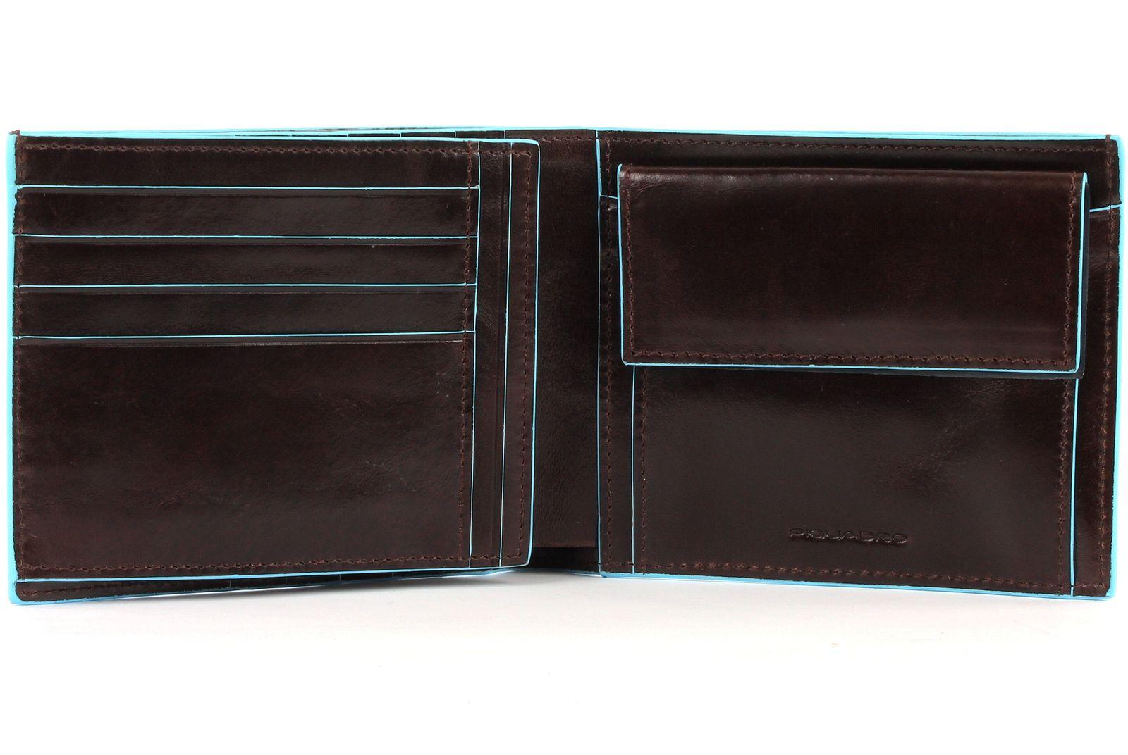 PIQUADRO Blue Square Wallet Horizontal Mogano