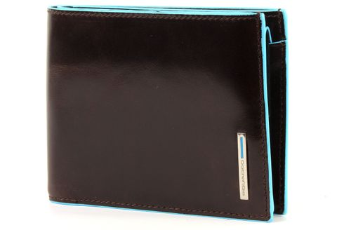 PIQUADRO Blue Square Wallet Horizontal Mogano