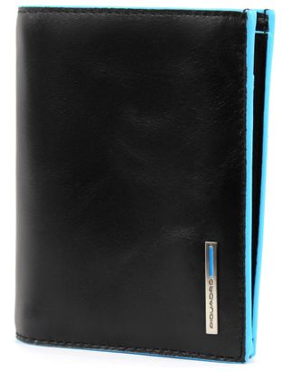 PIQUADRO Blue Square Wallet Vertical Nero