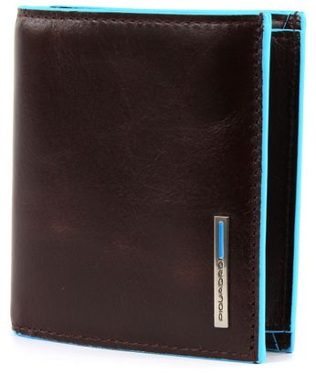 PIQUADRO Blue Square Pocket Wallet Vertical Mogano
