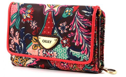 Oilily French Paisley S Wallet Burgundy