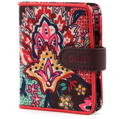 Oilily French Paisley S Flap Wallet Burgundy