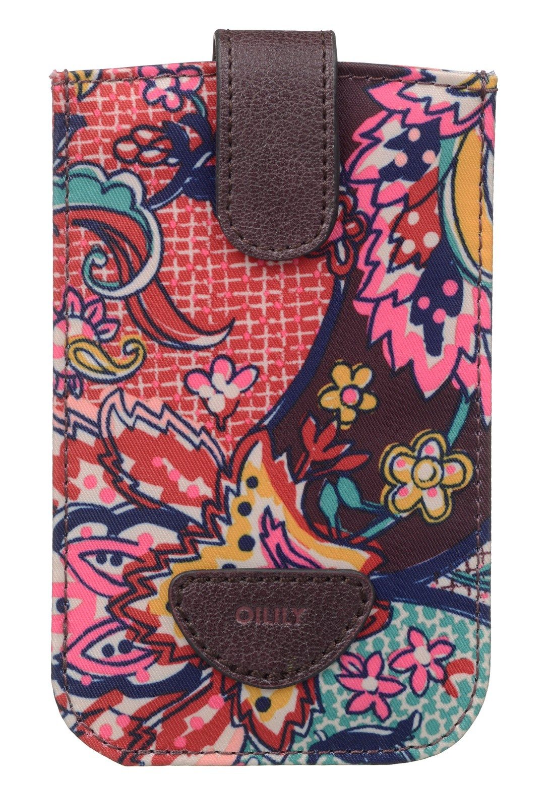 Oilily French Paisley Smartphone Pull Case Burgundy
