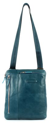 PIQUADRO Blue Square Shoulder Pocketbag Blue Pavone