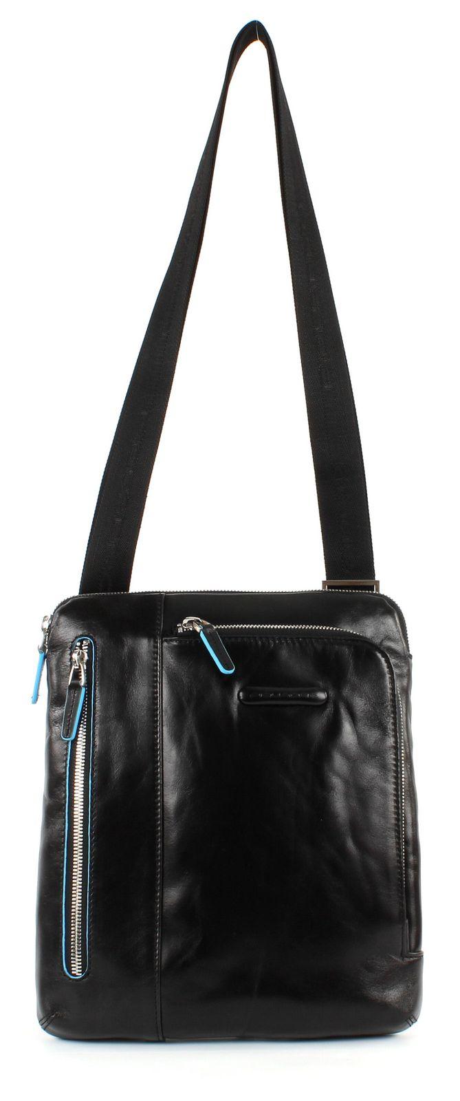 PIQUADRO Blue Square Shoulder Pocketbag Nero