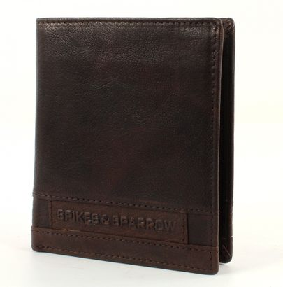 SPIKES & SPARROW Bronco Wallet Large Quadrat Dark Brown